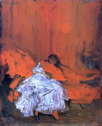 James McNeill Whistler Red and Pink: The Little Mephisto - Hand Painted Oil Painting