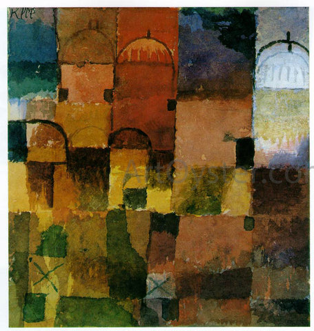 Paul Klee Red and White Domes - Hand Painted Oil Painting