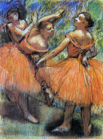 Edgar Degas Red Ballet Skirts - Hand Painted Oil Painting