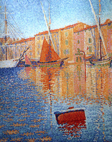 Paul Signac Red Buoy (also known as Harbour at Saint Tropez) - Hand Painted Oil Painting