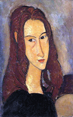 Amedeo Modigliani A Red Haired Girl - Hand Painted Oil Painting