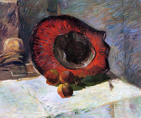 Paul Gauguin Red Hat - Hand Painted Oil Painting