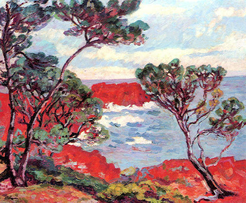 Armand Guillaumin Red Rocks - Hand Painted Oil Painting