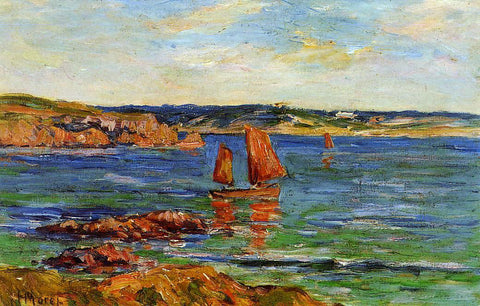 Henri Moret Red Rocks - Hand Painted Oil Painting
