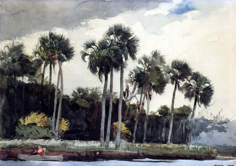 Winslow Homer Red Shirt, Homosassa, Florida - Hand Painted Oil Painting