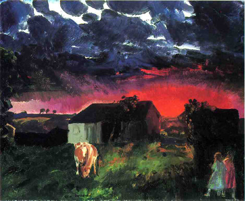 George Wesley Bellows Red Sun - Hand Painted Oil Painting