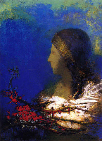 Odilon Redon Red Thorns - Hand Painted Oil Painting