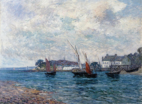 Maxime Maufra Reentering Port at Douarnenez (also known as Finistere) - Hand Painted Oil Painting