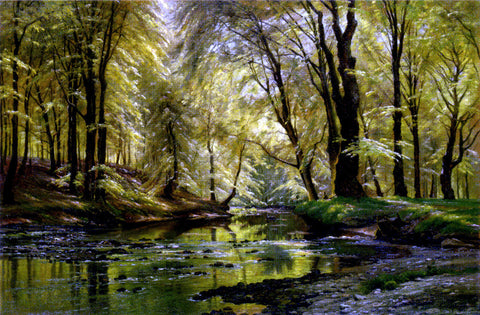 Johannes Boesen Reflections In A Stream - Hand Painted Oil Painting