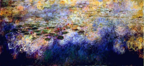 Claude Oscar Monet Reflections of Clouds on the Water-Lily Pond (tryptich, center panel) - Hand Painted Oil Painting
