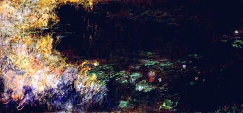 Claude Oscar Monet Reflections of Clouds on the Water-Lily Pond (tryptich, right panel) - Hand Painted Oil Painting