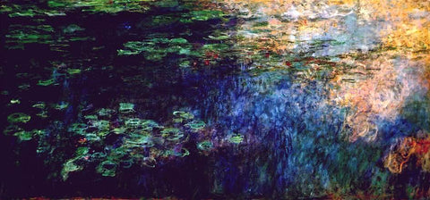 Claude Oscar Monet Reflections on the Water - Hand Painted Oil Painting