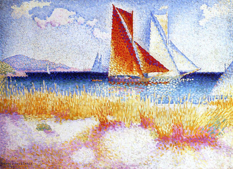 Henri Edmond Cross Regatta - Hand Painted Oil Painting