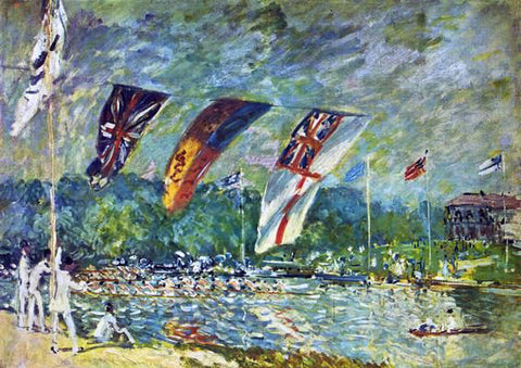 Alfred Sisley Regatta at Molesey - Hand Painted Oil Painting