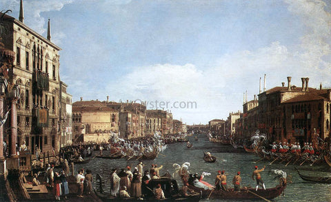 Canaletto A Regatta on the Grand Canal - Hand Painted Oil Painting