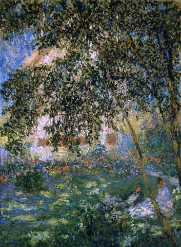 Claude Oscar Monet Relaxing in the Garden, Argenteuil - Hand Painted Oil Painting
