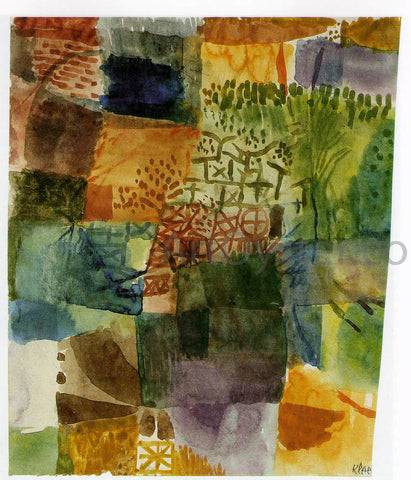 Paul Klee Remembrance of a Garden - Hand Painted Oil Painting