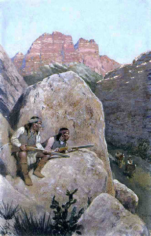 Henry F Farney Renegade Apaches - Hand Painted Oil Painting