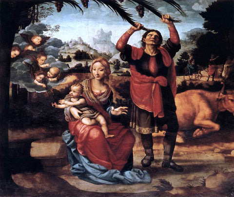 Fernando Yanez De la Almedina Rest during the Flight to Egypt - Hand Painted Oil Painting