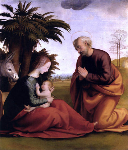 Fra Bartolomeo Rest on the Flight into Egypt - Hand Painted Oil Painting