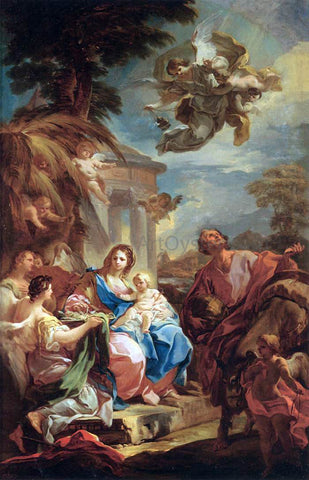 Corrado Giaquinto Rest on the Flight into Egypt - Hand Painted Oil Painting