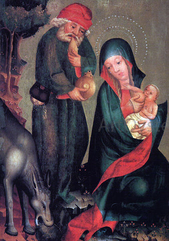 Master Bertram Rest on the Flight to Egypt, Panel from Grabow Altarpiece - Hand Painted Oil Painting
