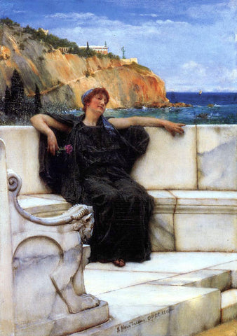 Sir Lawrence Alma-Tadema Resting - Hand Painted Oil Painting