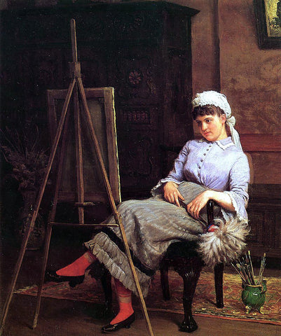 Edgar Melville Ward Resting - Hand Painted Oil Painting