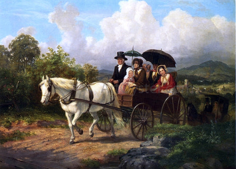 Johannes Simon Oertel Return from Meeting - Hand Painted Oil Painting