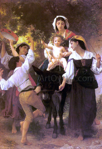 William Adolphe Bouguereau Return from the Harvest - Hand Painted Oil Painting