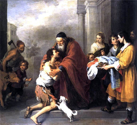 Bartolome Esteban Murillo Return of the Prodigal Son - Hand Painted Oil Painting