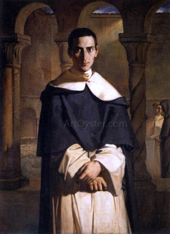 Theodore Chasseriau Reverend Father Dominique Lacordaire - Hand Painted Oil Painting