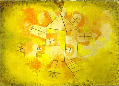 Paul Klee Revolving House - Hand Painted Oil Painting