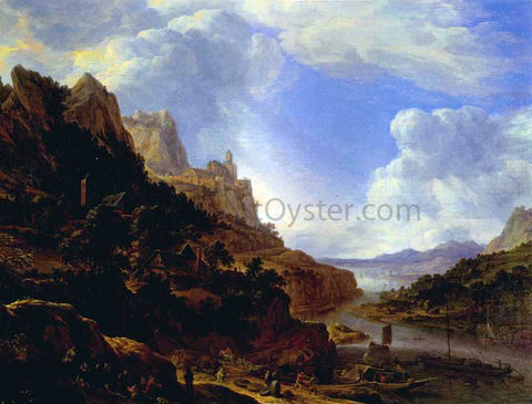 Herman Saftleven Rhineland Fantasy View - Hand Painted Oil Painting
