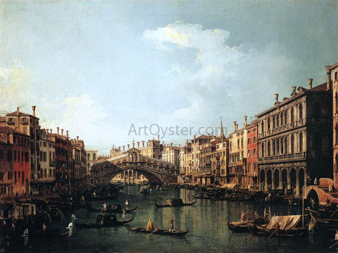 Canaletto Rialto Bridge from the South - Hand Painted Oil Painting