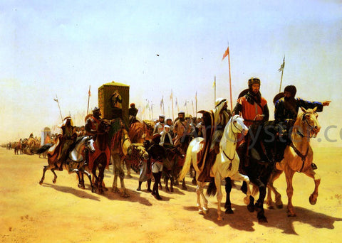 James William Glass Richard, Coeur De Lion, On His Way To Jerusalem - Hand Painted Oil Painting