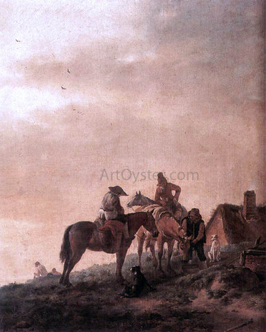 Philips Wouwerman Rider's Rest Place - Hand Painted Oil Painting