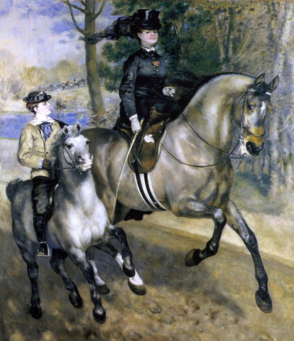 Pierre Auguste Renoir Riding in the Bois de Boulogne (also known as Madame Henriette Darras or The Ride) - Hand Painted Oil Painting