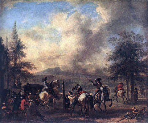 Philips Wouwerman Riding School - Hand Painted Oil Painting