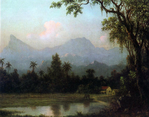 Martin Johnson Heade Rio de Janeiro, South American Scene with Cabin - Hand Painted Oil Painting
