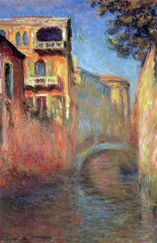 Claude Oscar Monet Rio della Salute - Hand Painted Oil Painting