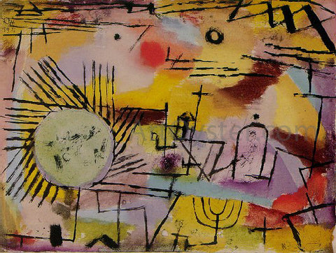 Paul Klee Rising Sun - Hand Painted Oil Painting
