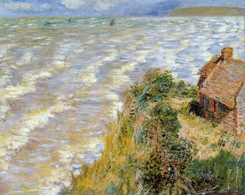 Claude Oscar Monet A Rising Tide at Pourville - Hand Painted Oil Painting