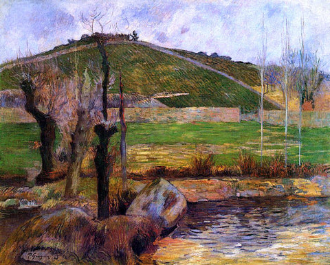 Paul Gauguin River Aven Below Mount Sainte-Marguerite - Hand Painted Oil Painting