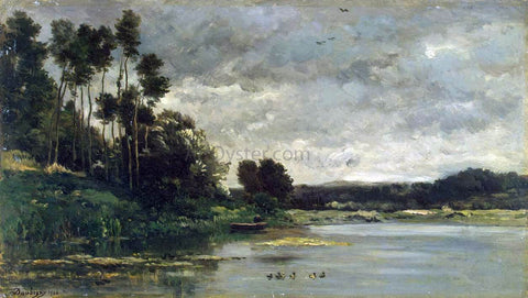Charles Francois Daubigny River Bank - Hand Painted Oil Painting