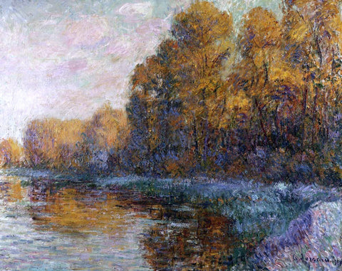 Gustave Loiseau River in Autumn - Hand Painted Oil Painting