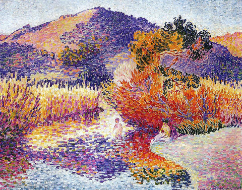 Henri Edmond Cross River in Saint-cir - Hand Painted Oil Painting