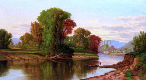Robert Scott Duncanson River Scene - Hand Painted Oil Painting