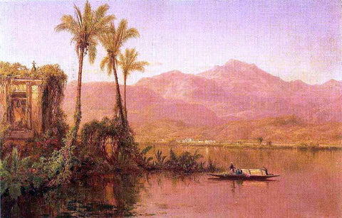 Louis Remy Mignot River Scene, Ecuador - Hand Painted Oil Painting