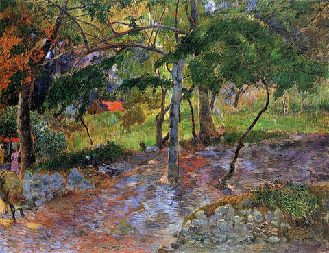Paul Gauguin River under the Trees, Martinique - Hand Painted Oil Painting